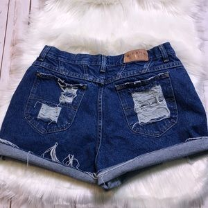 Vintage Lee Riders high waisted cutoff jean shorts
